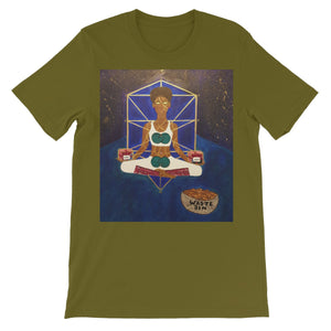Spiritual Solitude All People Short Sleeve T-Shirt - Amja Art