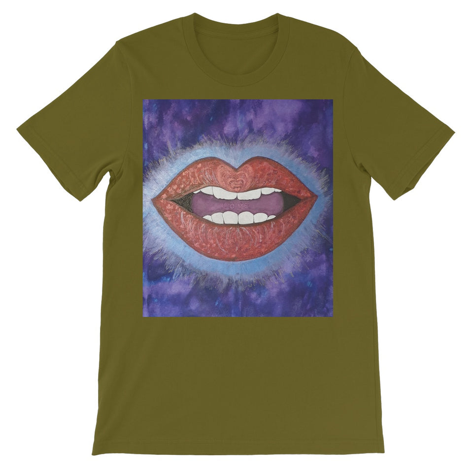 LoveLee Lips All People Short Sleeve T-Shirt - Amja Art