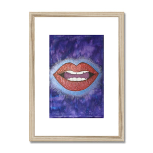 LoveLee Lips Framed & Mounted Print