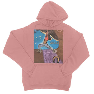 """Warrior 1"" (YOGA) College Hoodie - Amja Art"