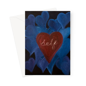 Love Of Self Greeting Card - Amja Art