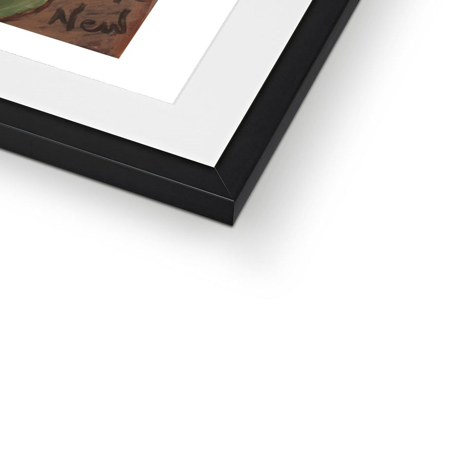Messages In Your Mud Framed & Mounted Print