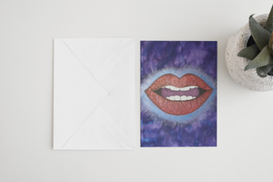 LoveLee Lips Greeting Card
