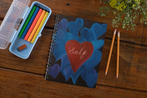 "AU ""Love Of Self""  A5  Spiral Notebook"