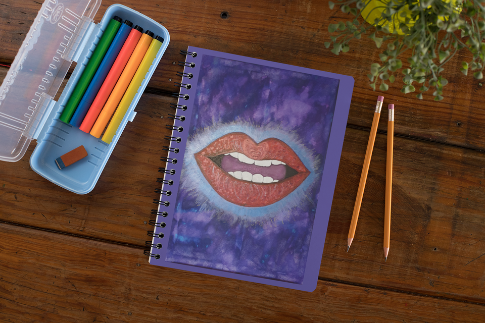 "AU ""LoveLee Lips"" A5  Spiral Notebook"