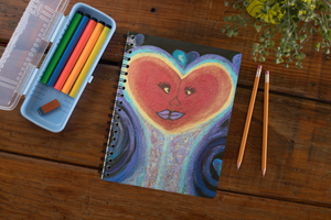 "AU  ""A Love Out Of This World""  Spiral Notebook"