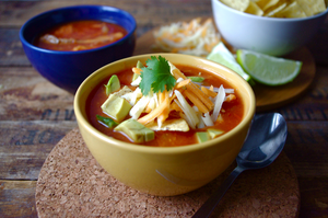 Tortilla Soup with Clint's Salsa