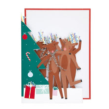 Load image into Gallery viewer, Dancing Reindeer Card