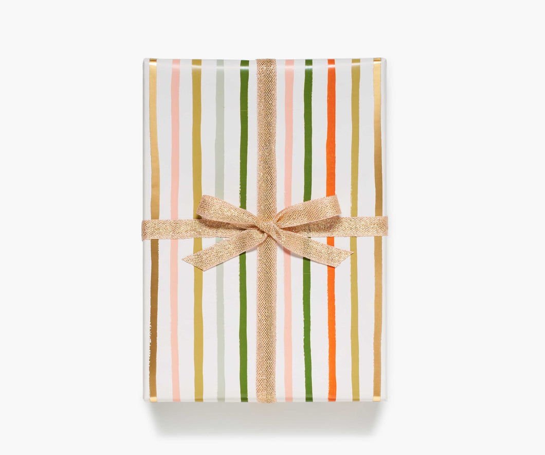 Festive Strip Wrapping Paper