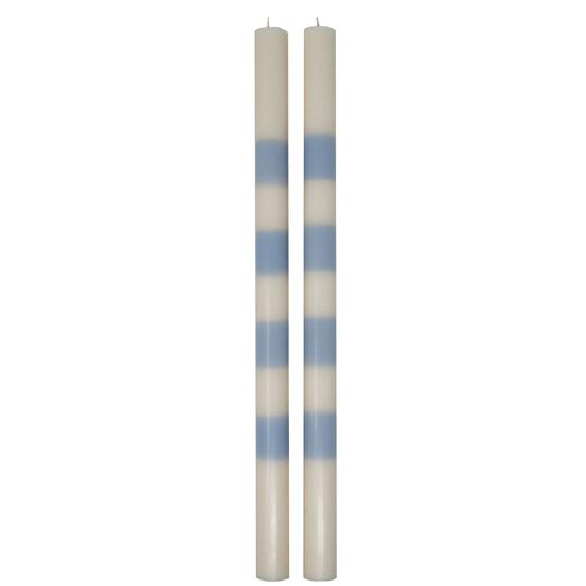 Striped Taper Candles - Set of 2