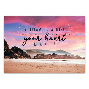 "Postkarte ""A dream is a wish your heart makes"""