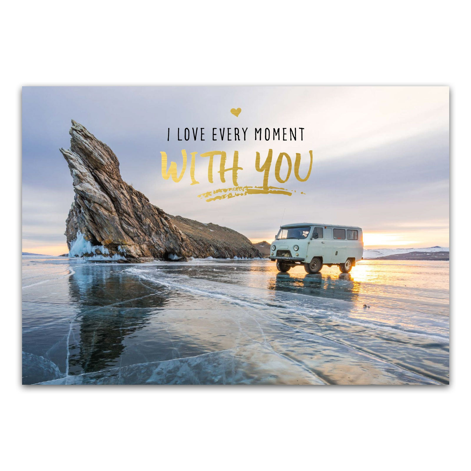 "Postkarte ""I love every moment with you"""