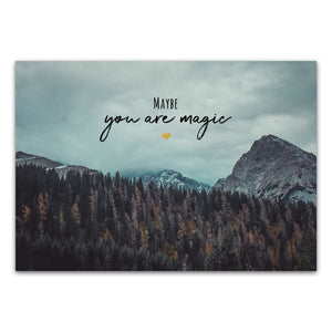 "Postkarte ""Maybe you are magic"""