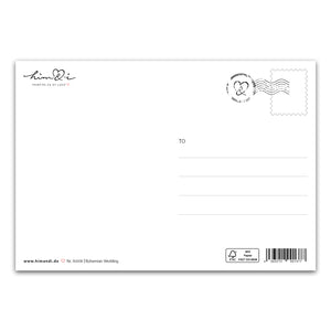 "Postkarte ""Goodbye Miss Hello Mrs.!"""