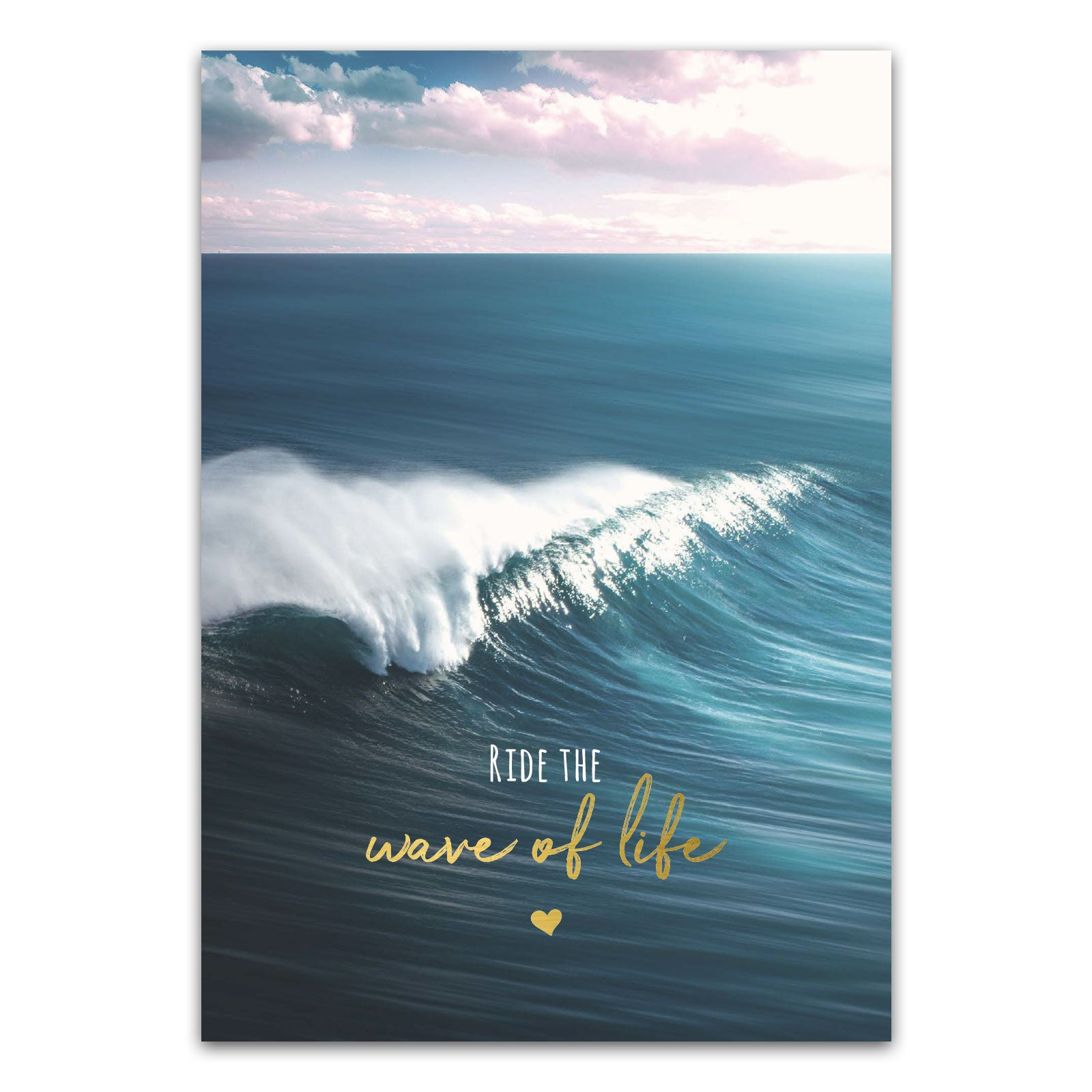 "Postkarte ""Ride the wave of life"""