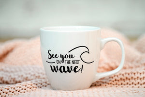 "Jumbotasse ""See you on the next wave"""