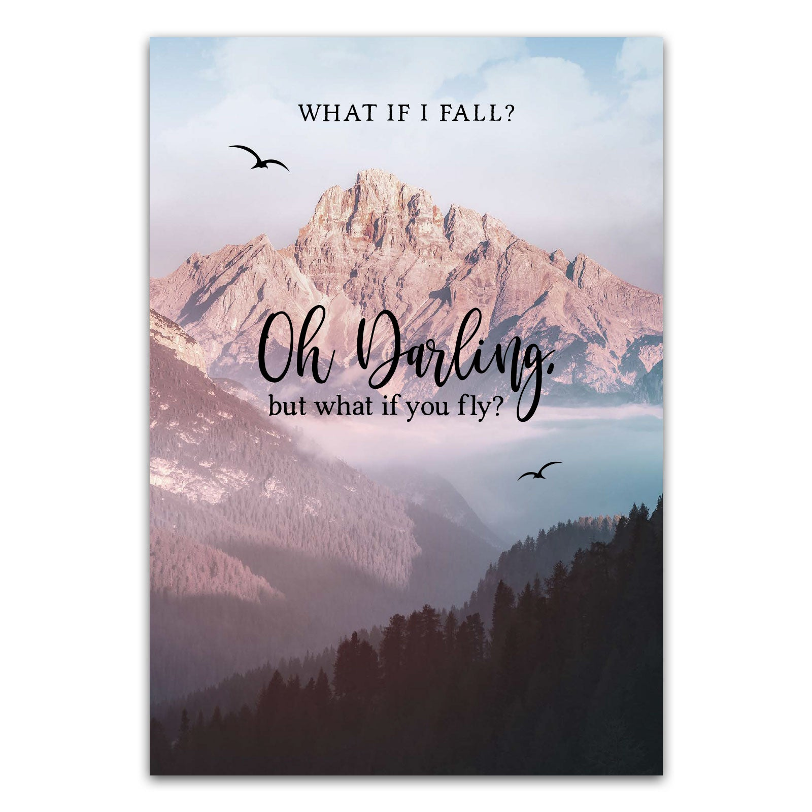 "Postkarte ""What if i fall? Oh darling, but what if you fly?"""