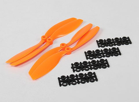 8045 SF Props 2pc CW 2 pc CCW Rotation (Orange)