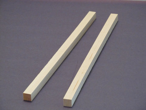 "Basswood  1/2 ""x 1/2"" x 12"" long (two  pieces)"
