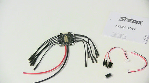 Spedix 4in1 DShot 600 BLHeli_S 30A ESC (with 90mm wires)