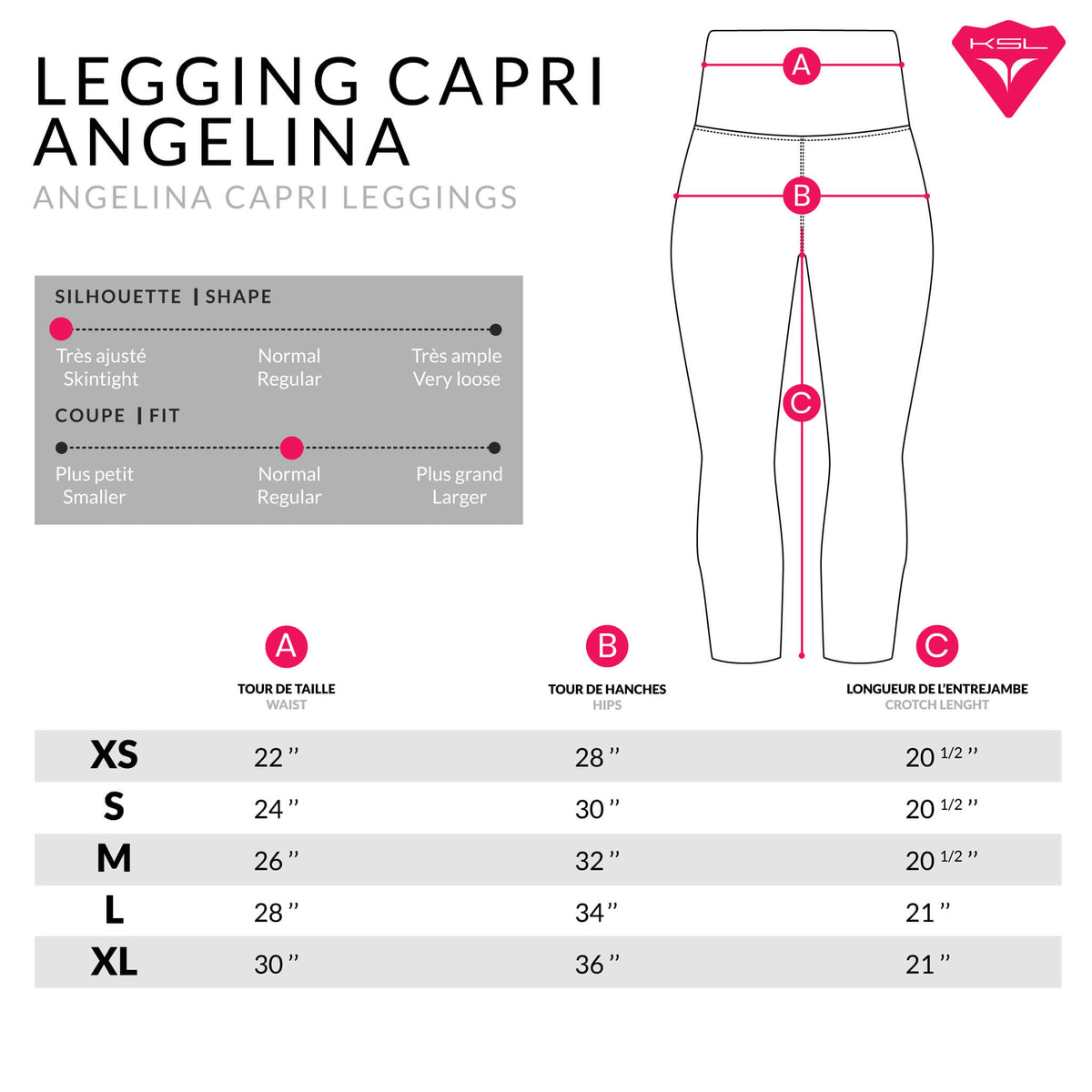 Legging Angelina Capri