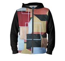 Load image into Gallery viewer, 'Squared Up' Men's Zip up Hoodie