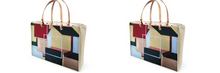 Load image into Gallery viewer, 'Zoe' Real Leather and Patent Vinyl Women's Handbag