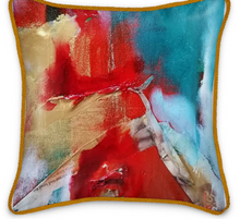 Load image into Gallery viewer, 'Fire Me Up' Luxury Designer Silk Cushion