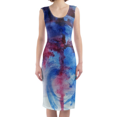 'Earth Spirit' Women's Designer Bodycon Dress