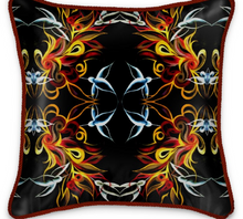 Load image into Gallery viewer, 'Birds of Paradise' Luxury Designer Silk Cushion