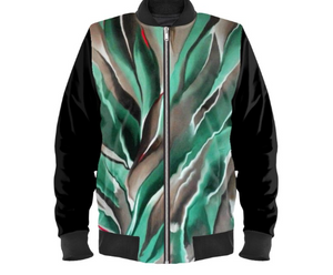 'Earth Grid' Men's Bomber Jacket