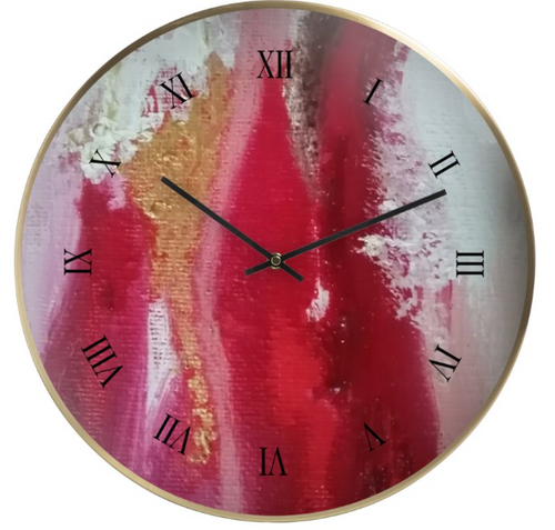 'Red Mountain' Wall Clock