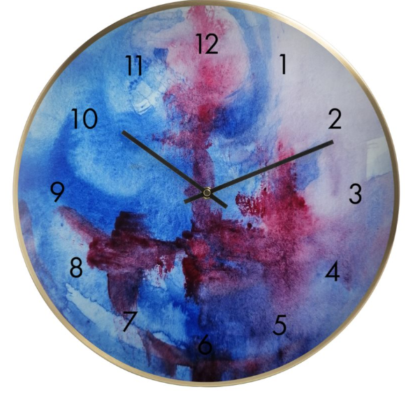 'Blue Bliss' Wall Clock