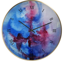 Load image into Gallery viewer, 'Blue Bliss' Wall Clock