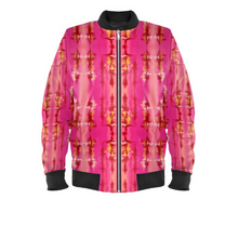 Load image into Gallery viewer, 'Pink Ripple' Women's Bomber Jackets
