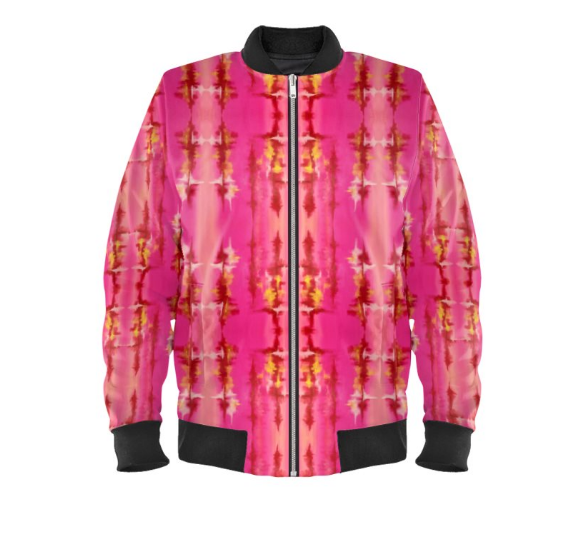 'Pink Ripple' Women's Bomber Jackets