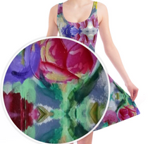 Load image into Gallery viewer, 'Rosa' Women's Skater Dress