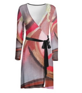 'Deep Into You' Women's Wrap Dress