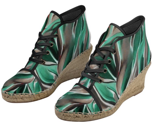 'Earth Grid' Women's Designer Wedges