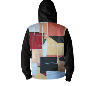 'Squared Up' Men's Zip up Hoodie