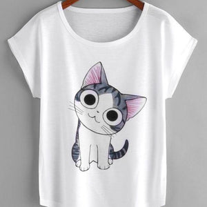 Cat Print Tee for summers