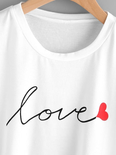 Love letter print Tee for summers
