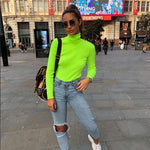 Load image into Gallery viewer, Neon Green Turtleneck top