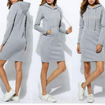Load image into Gallery viewer, Hoodie Dress with Pocket