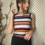 Load image into Gallery viewer, Luxe Striped halter Neck Top