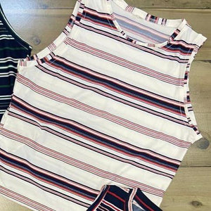 Luxe Striped halter Neck Top