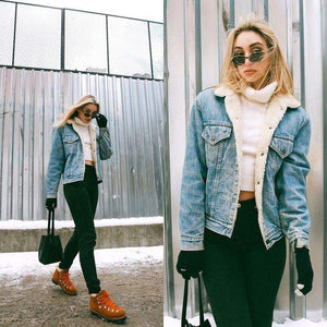 Alba Denim Jacket with fur