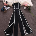 Load image into Gallery viewer, Monotone Jumpsuit with white stripes