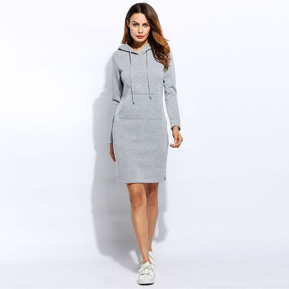 Hoodie Dress with Pocket