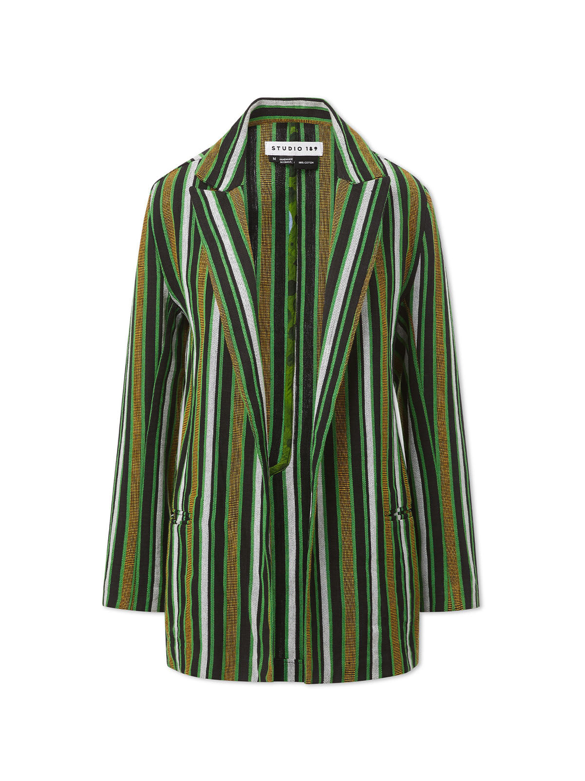Green Double-Breasted Blazer